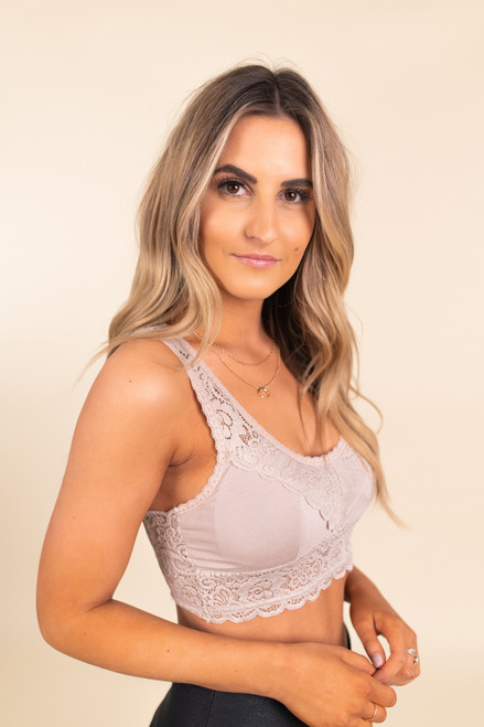 Padded Lace Champagne Bralette