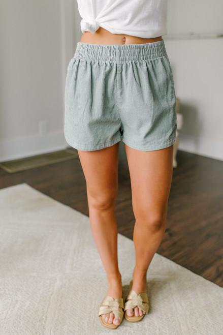 Scenic Drive Corduroy Mint Shorts