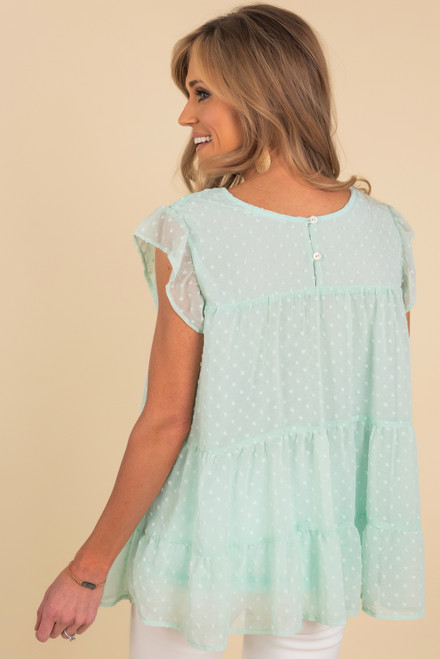 Sweet Annie Mint Tiered Top