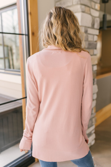 Down By The Bay Blush Knit Cardigan