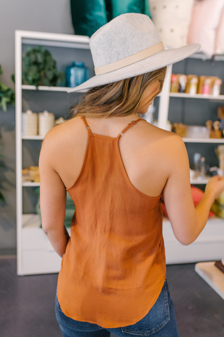 Button Down Amber Knot Tank