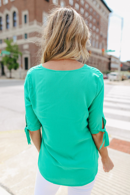 Jack by BB Dakota Canyons Green Blouse