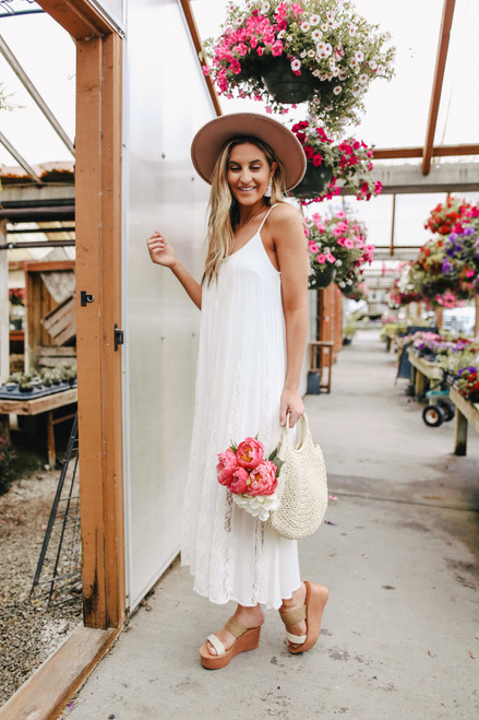 Southern Comfort White Lace Inset Maxi