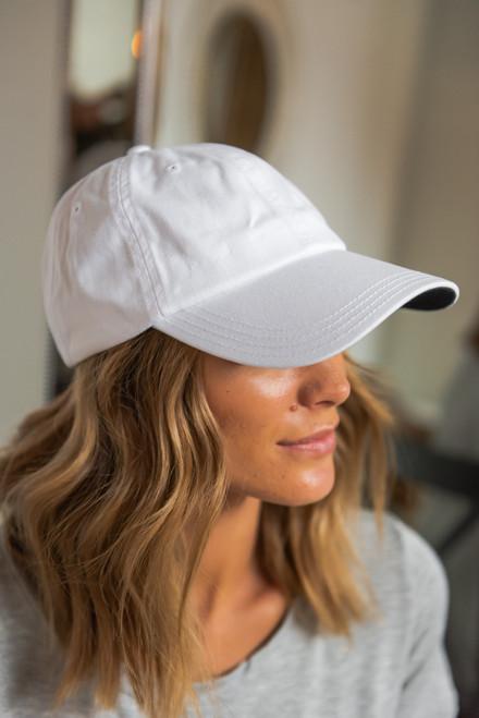 Covering My Bases White Baseball Hat