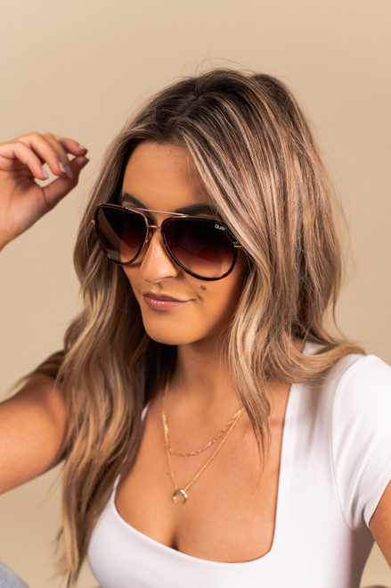 Quay All In Mini Tortoise Sunglasses