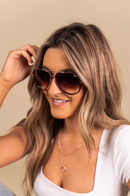 Quay All In Mini Tortoise Sunglasses