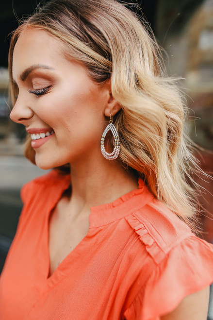 Emmie Crescent Hoop Gold Earrings