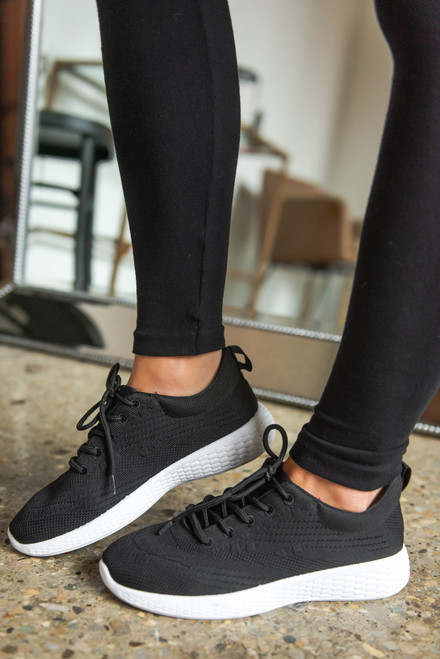 Goal Getter Black Flyknit Sneakers