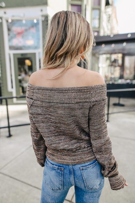Free People Sugar Rush Black Combo Sweater