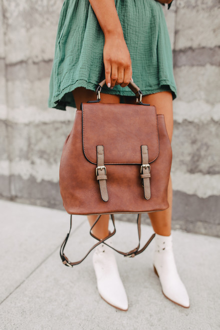 Two Tone Convertible Backpack