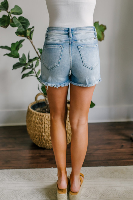 Seaport Distressed Medium Wash Shorts