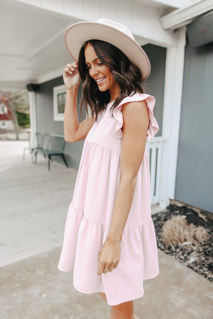 Everly Tiered Rose Babydoll Dress