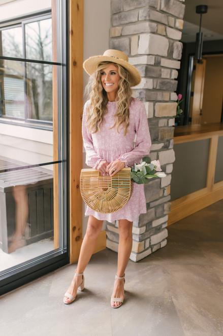 Everly Mock Neck Dotted Floral Dress - FINAL SALE