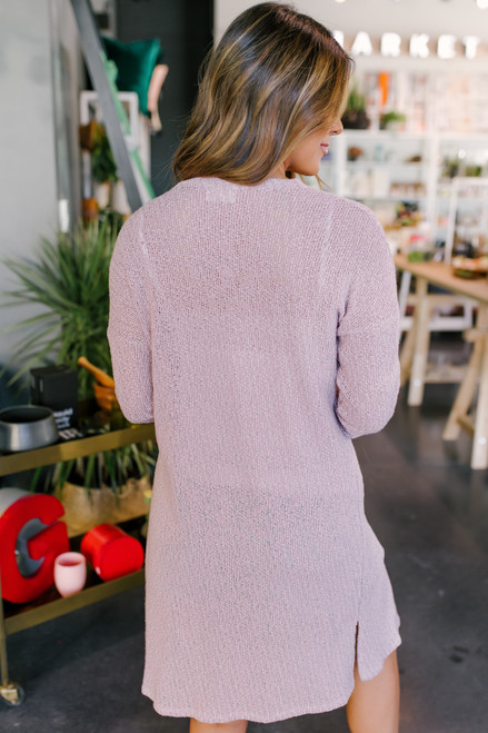 Everly Two Tone Lavender Cardigan