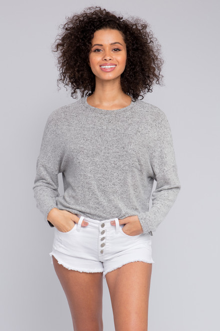 Everly Soft Brushed Grey Pullover