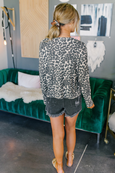 Everly Leopard Thermal Top