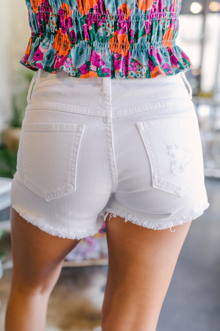 Aruba 5-Button White Shorts
