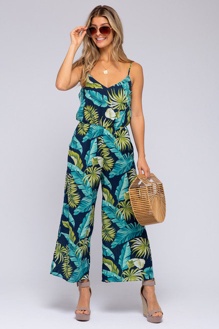 Everly Tropical Print Jumpsuit