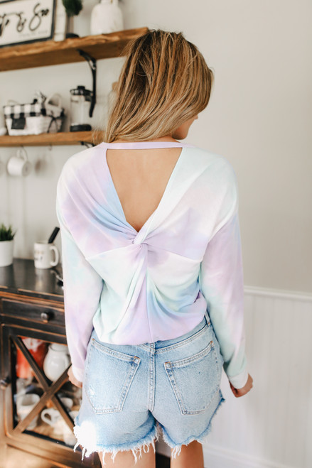 Everly Open Back Tie Dye Pullover