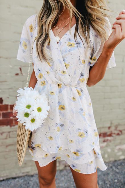 Garden Date Surplice Floral Dress