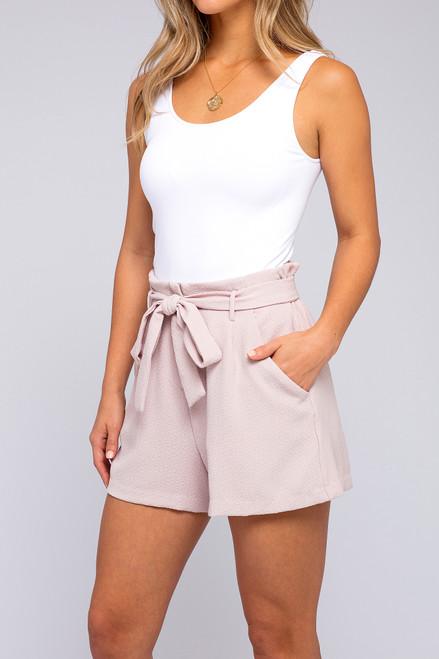 Inner Circle Hushed Violet Textured Shorts