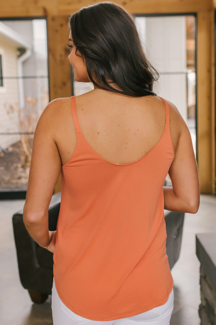 Cabana Bay Surplice Orange Tank