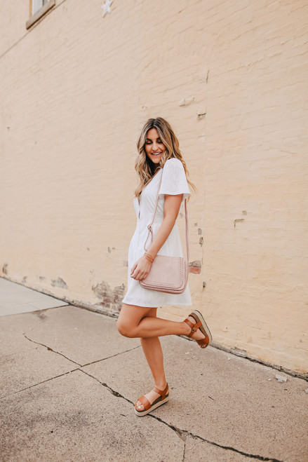 Mariana Button Down White Lace Dress