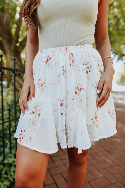Garden Gate Floral Embroidered Skirt