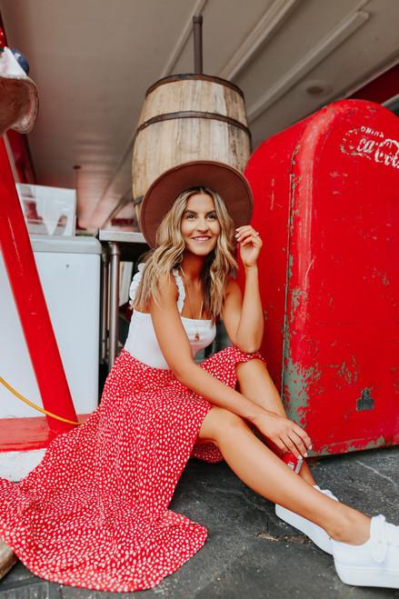 Briar Rose Red High Low Skirt