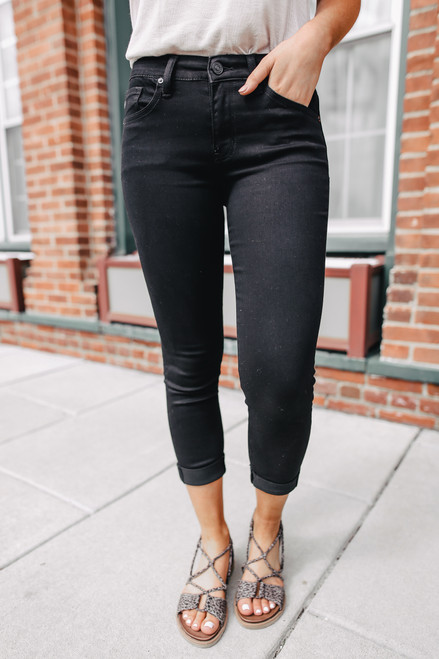 Supernova Black Cropped Skinny Jean