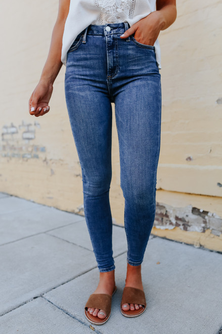 Free People Montana Lake Blue Skinny Jeans