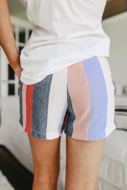 Sunset Surf Multi Stripe Shorts