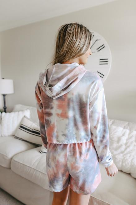 Soft Brushed Tie Dye Cropped Hoodie - FINAL SALE