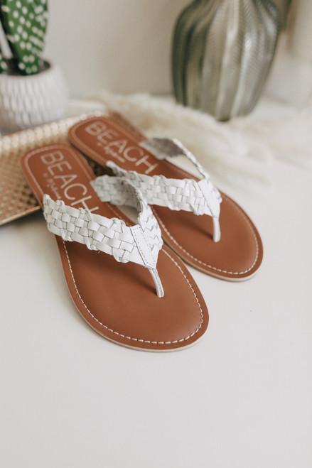 Beach by Matisse Make Waves White Sandals