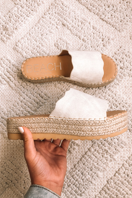 Coconuts by Matisse Ivory Palm Sandals