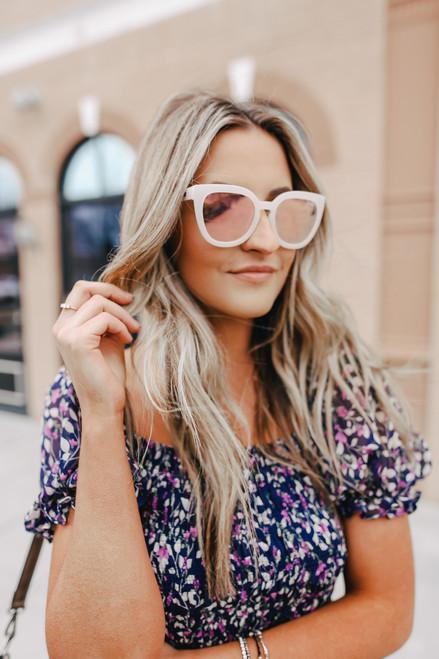 Quay Noosa Pearl Rose Sunglasses