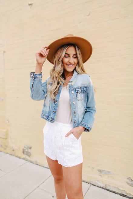 Love Swept White Lace Shorts
