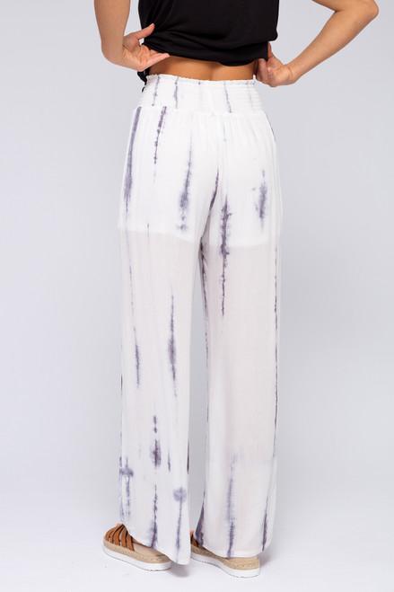 Smocked Waist Tie Dye Pants