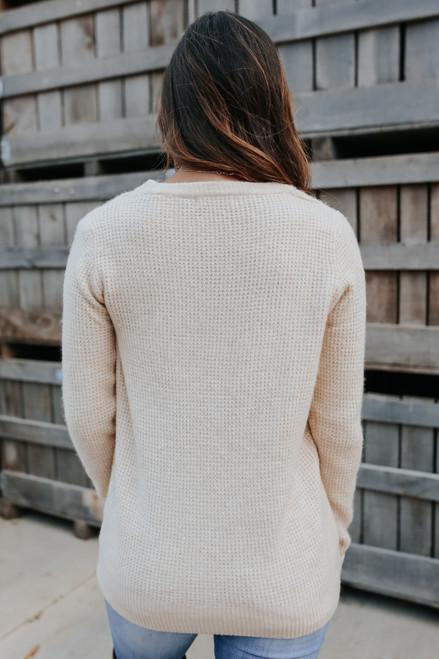 Autumn Glow Brushed Waffle Sweater