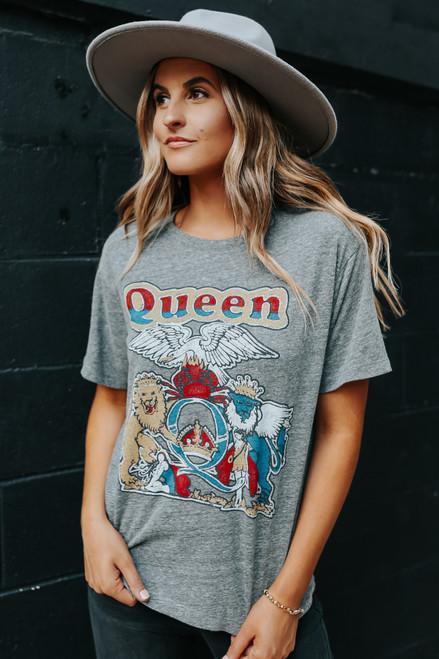 Daydreamer Queen Heather Grey Boyfriend Tee