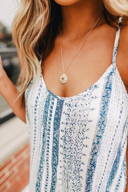Starburst Gold & White Necklace
