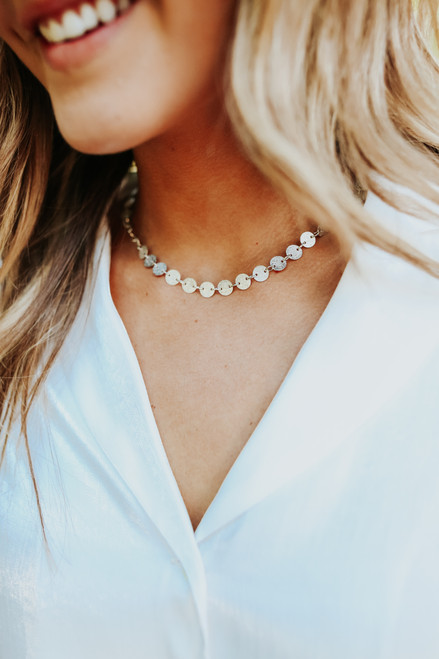 Call You Mine Silver Coin Necklace