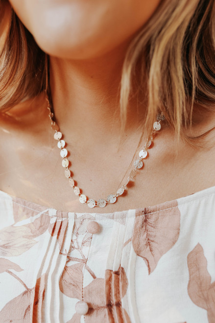 Call You Mine Rose Gold Coin Necklace
