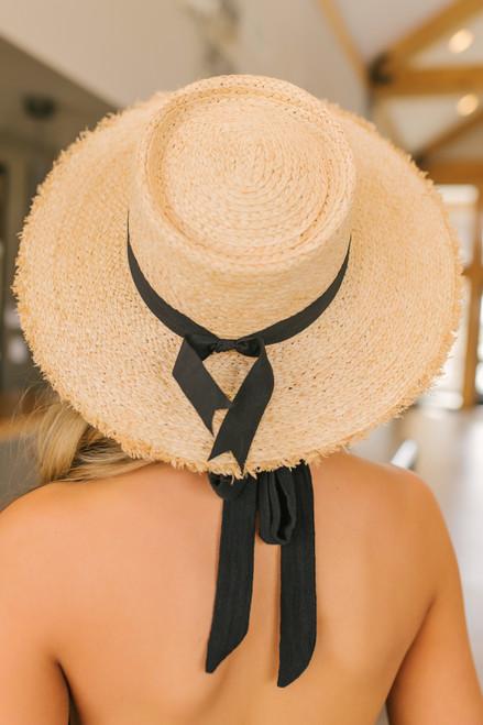 Rebecca Ribbon Detail Straw Hat