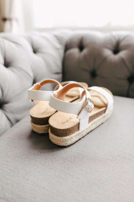 North Shore White Espadrille Sandals