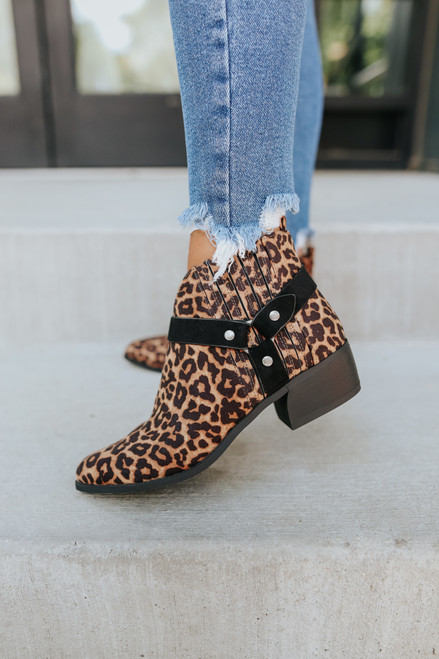 Simply Irresistible Leopard Harness Booties