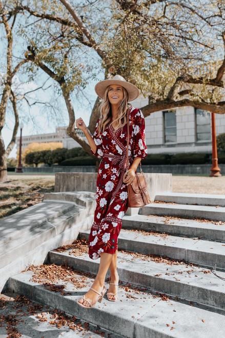 BB Dakota Blooming Business Midi Dress