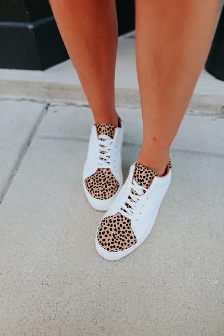 Wild Side Contrast Leopard Sneakers