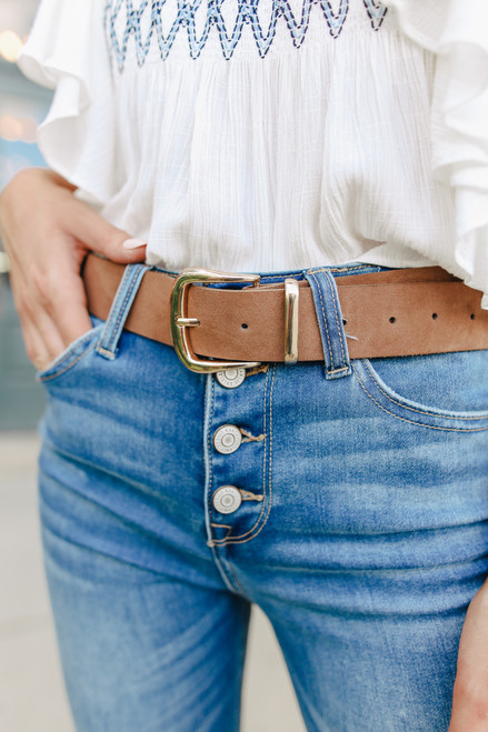 Current Mood Faux Leather Brown Belt