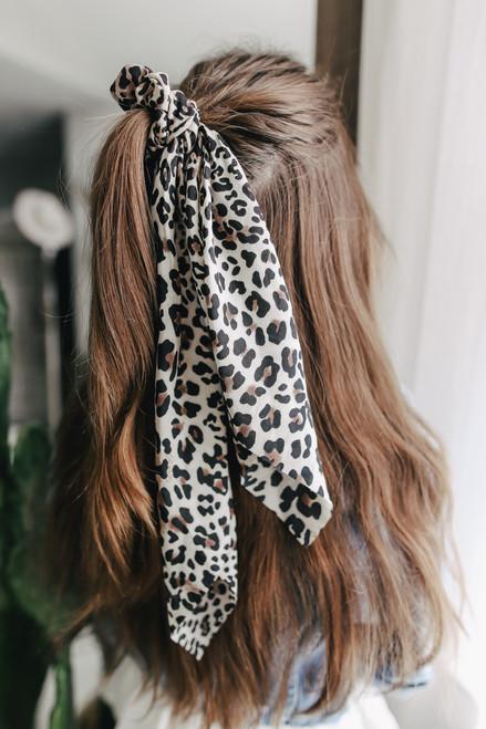 Stay Wild Leopard Hair Tie Scrunchie